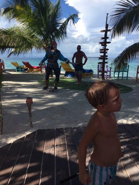 kids enjoying tropical island