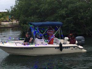 Buba Wuba bartender Harry participates in holiday boat parade