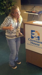 "Receiving my ""Lizzie""  You get this for 5 years of service at Covenant House (a homeless shelter for kids 18-21 years old)"