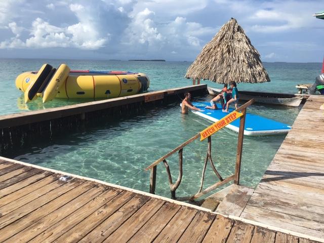 aquatic fun at King Lewey's island in Belize