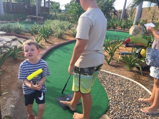 mini golf at Sirenian Bay Resort on the Placencia Peninsula