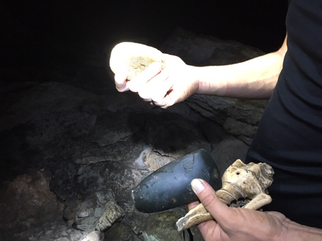 perfectly preserved ancient Maya artifacts in Belize caves