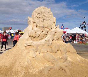 AC Seafood Fest Sand Sculpture- Real Life Recess
