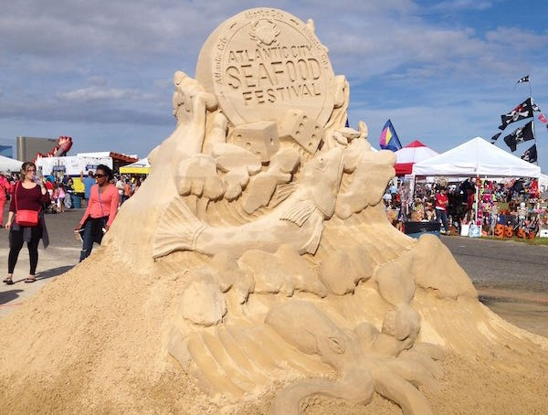 AC Seafood Fest Sand Sculpture- Real Life Recess