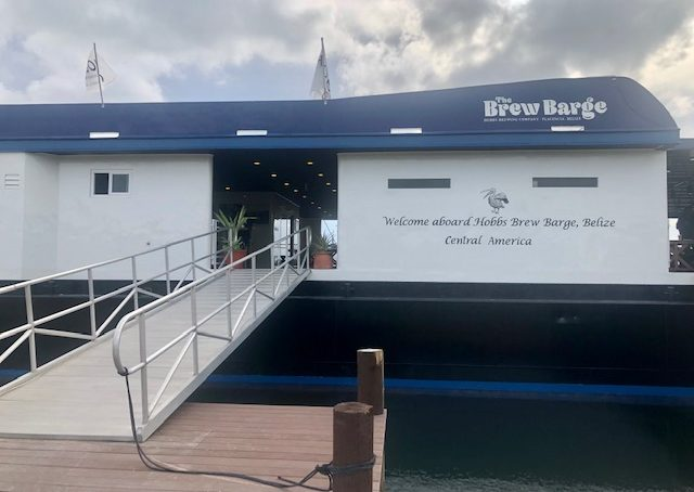 hobbs brewing co brew barge placencia belize