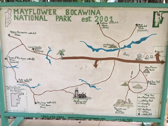 trail map Mayflower Bocawina National Park Belize
