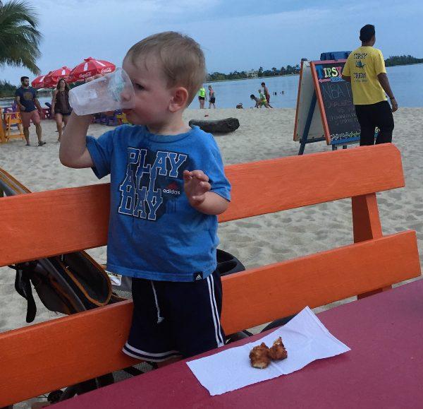 Mitch eating wings Tipsy Tuna Real Life Recess