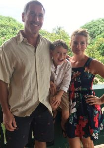 Megan Rodden, Phil Nagengast and Mitch expats in Placencia Belize