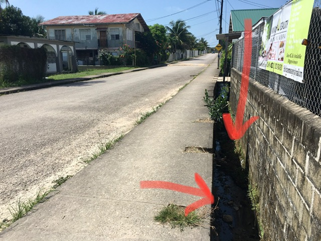 sidewalk in punta gorda belize