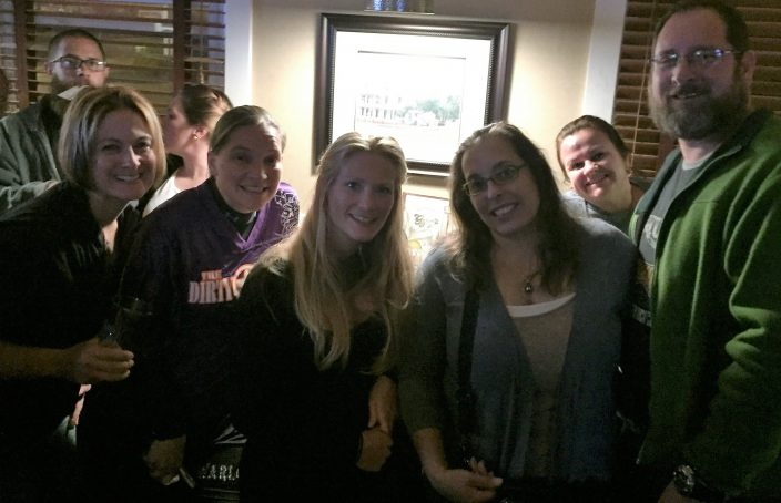 Going away party with football girls