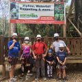 real life recess and friends zip lining bocawina belize