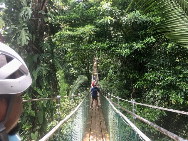 suspension bridge at Bocawina Adventure Park Belize
