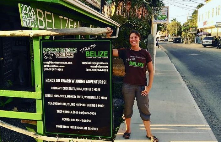 Dr. Lyra Spang of Taste Belize culinary tours Placencia Belize