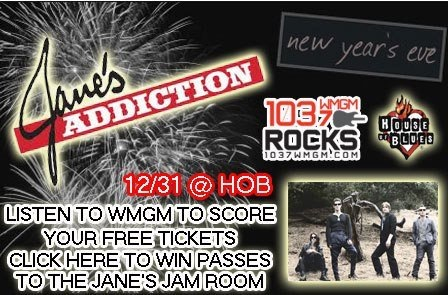We saw Jane's Addiction on New Year's Eve 2012