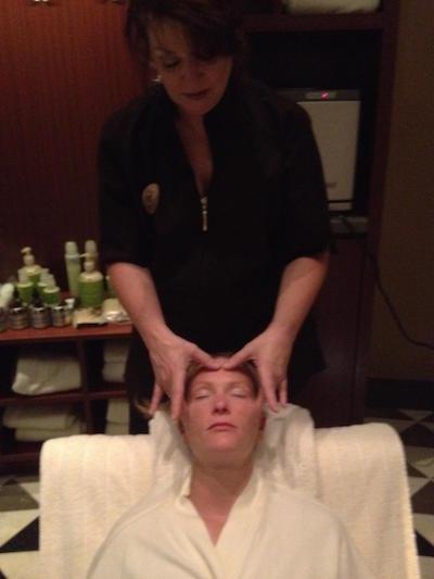 Megan face massage